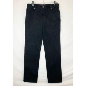 GLORIA VANDERBILT Black Straight Leg Jeans!